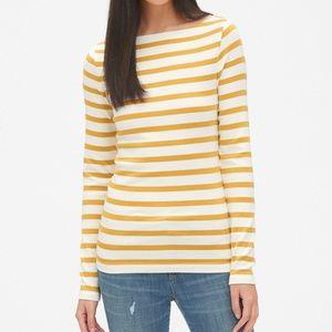 GAP Modern Long Sleeve Boatneck T-Shirt strip